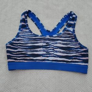 Nike dri fit blue, pink,white sports bra sz small